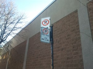 confusing parking signs on Montreal's Casgrain street