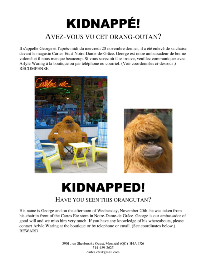 Kidnapped - George wanted poster
