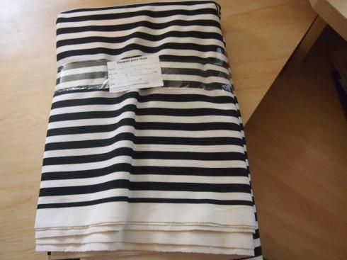 Ikea black-and-white striped Sofia fabric
