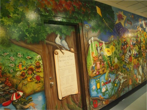 Mural at Old Montreal Children's Hospital