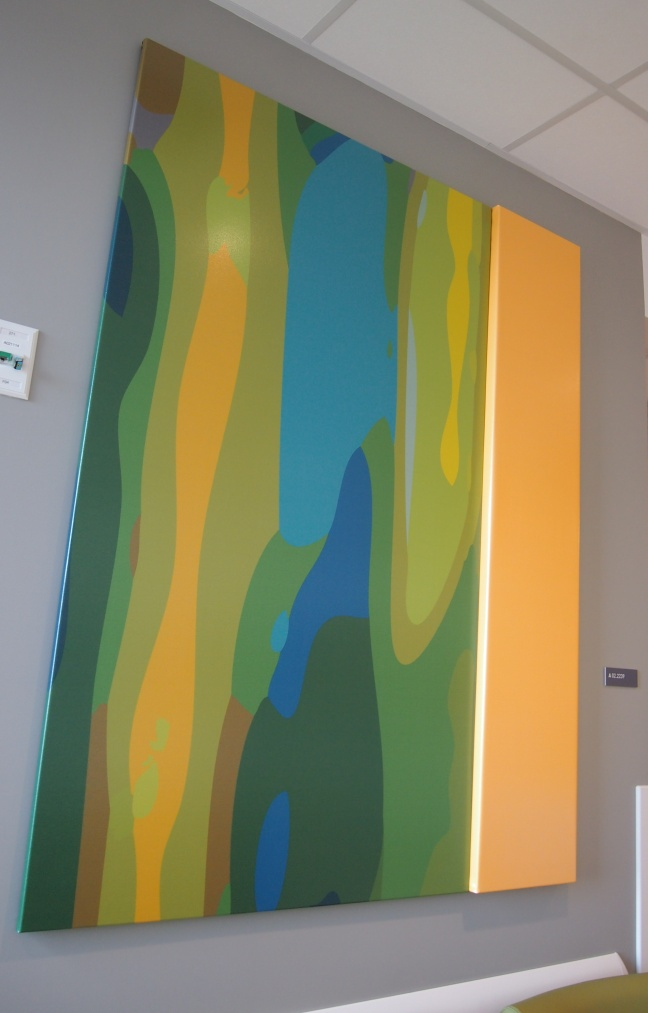 a painting at the new Montreal Children's Hospital