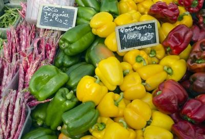 veggies at market