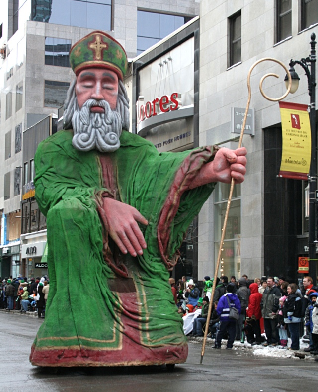 giant Saint Patrick at parade