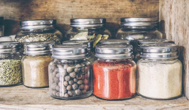 bulk food in jars
